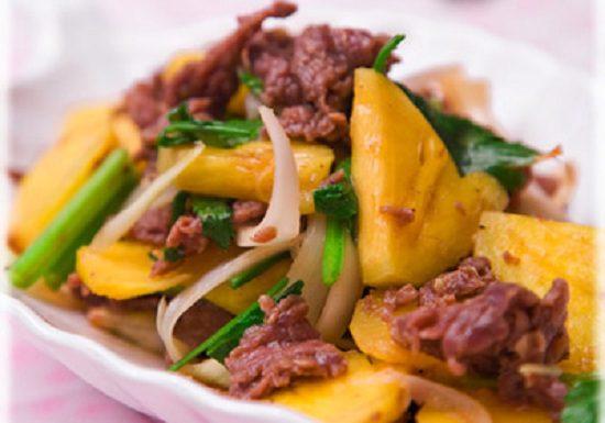 Cách làm thịt bò xào dứa thơm ngon giàu dinh dưỡng