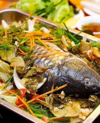 Cách làm món cá chép om dưa ngon ngọt đẹp mắt