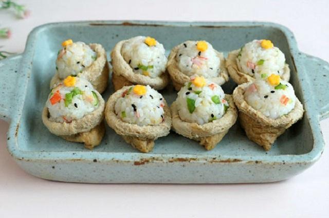Sushi đậu hũ bắt mắt, lạ miệng