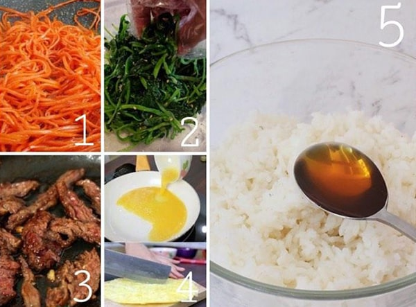 Cách làm cơm cuộn Hàn Quốc
