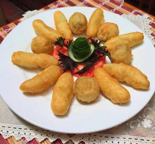 cách làm món ăn vặt ngon từ khoai lang - Món khoai lang kén