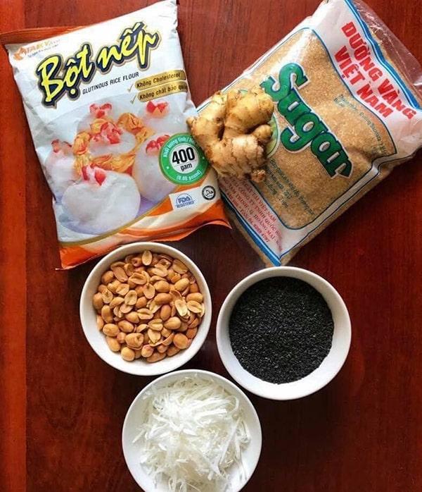 Nguyên liệu chế biến món bánh trôi tàu ăn vào mùa đông