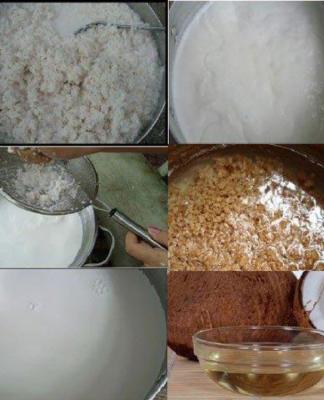 Nguyên liệu và cách làm dầu dừa tại nhà