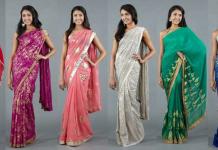 Sari là một trang phục truyền thống với nhiều màu sắc đa dạng khác nhau