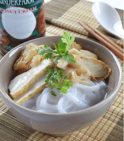bánh canh nước cốt dừa chay