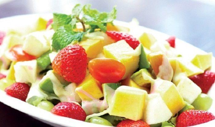 món ăn vặt hoa quả dầm